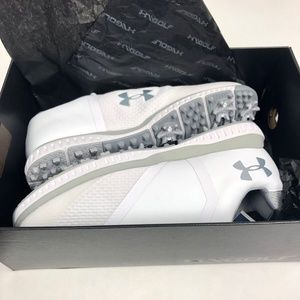 Womens 9.5 Under Armour Golf Shoes Fade RST White
